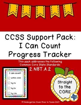 Second Grade CCSS Math 2.NBT.A.2: I Can Count Progress Tracker