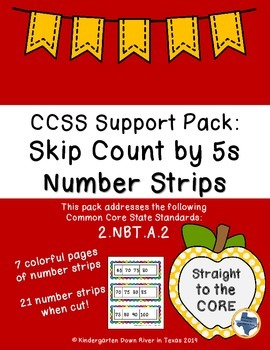 Second Grade CCSS.Math.2.NBT.A.2: Skip Counting by 5s Numb
