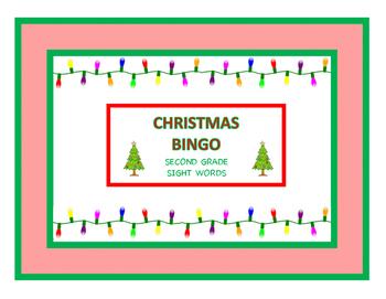 Second Grade Christmas Sight Word Bingo