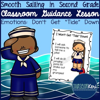 """Classroom Guidance Lesson: Emotions - Don't Get """"Tide"""" Down!"""
