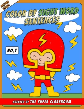 Second Grade: Color by Sight Word Sentences - 007