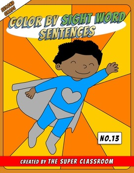 Second Grade: Color by Sight Word Sentences – 013