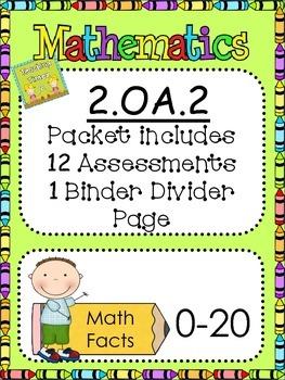Second Grade Common Core 2.OA.2 Math Assessments