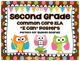 "Second Grade Common Core ELA ""I Can"" Posters {Owl and Choc"