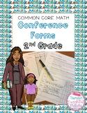 Common Core Math Conference Form Second Grade
