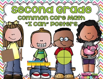 """Second Grade Common Core Math """"I Can"""" Posters {Cute Kiddos"""