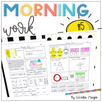 Second Grade *Common Core* Math and ELA Morning Work 5th M