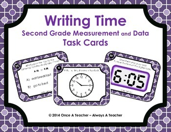 Time Task Cards - 2nd Grade Common Core