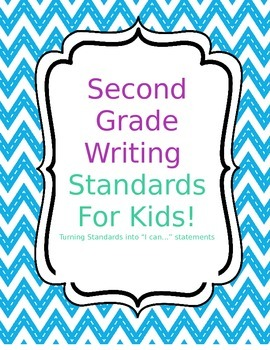 Second Grade Common Core Writing Standards