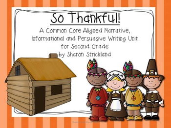 Second Grade Common Core Writing for November With Crafts