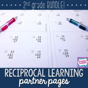 Second Grade Computation Practice Partner Pages- BUNDLE
