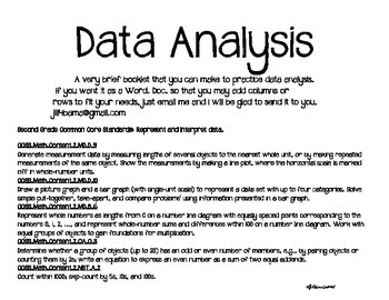 Second Grade Data Analysis Booklet