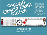 Second Grade Desk Plates