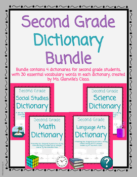 Second Grade Dictionary Bundle