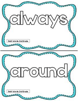 Second Grade Dolch Words Play Dough Mats