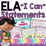 """I Can"" Statements: Second Grade ELA"