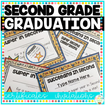 Second Grade End of Year Certificates (Editable)