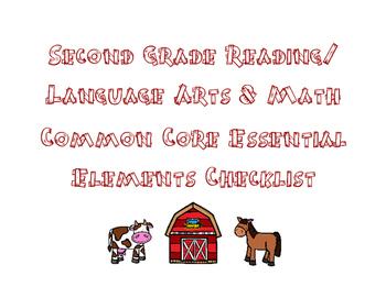 Second Grade Essential Elements Data Sheets