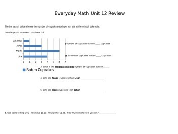 Second Grade Everyday Math Unit 12 Review