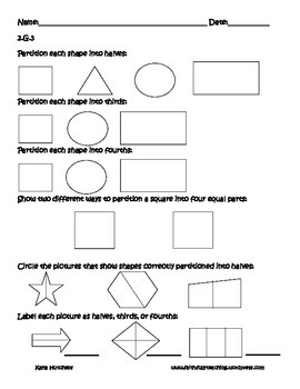 Second Grade Geometry Assessment Pack