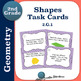 Second Grade Geometry Task Cards BUNDLE