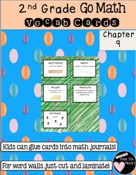 Second Grade Go Math Chapter 9 Vocabulary Cards