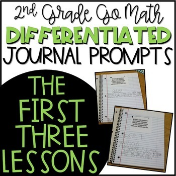 Second Grade Go Math Differentiated Math Journal Prompts FREEBIE!