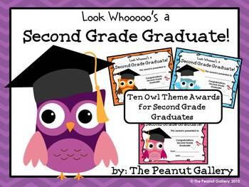 Second Grade Graduation Certificates (Owl Theme)