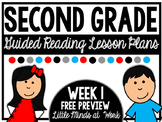 Second Grade Guided Reading: Week 1 (Free Preview)