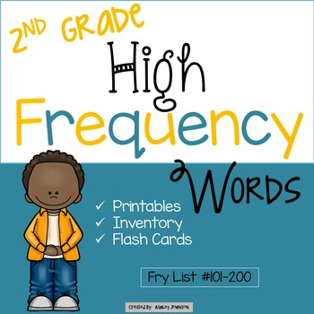 Second Grade High Frequency Words