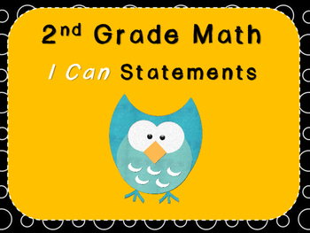 Second Grade I Can Statements (***FREEBIE***)
