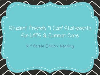 "Second Grade ""I Can"" Statements LAFS & Common Core Reading"