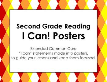 Second Grade I Can Statements for Extended Common Core