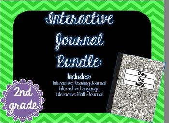 Second Grade Interactive Journals Bundle {Math, Language,