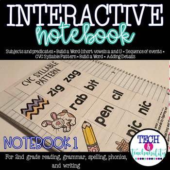 Second Grade Interactive Notebook Week 1: Short Vowels, Se