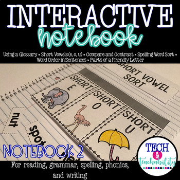 Second Grade Interactive Notebook Week 2: Short Vowels, Co