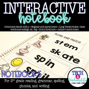 Second Grade Interactive Notebook Week 5: Story Structure,