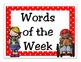 Second Grade Journeys 2014 High Frequency Word Wall (Red P