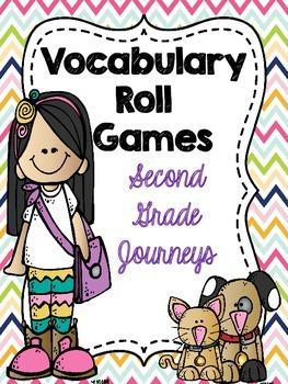 Second Grade (Journeys) Vocabulary Roll Games