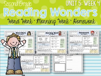 Second Grade Language Arts Morning Work / Homework Unit 5: Week 4