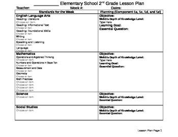 Second Grade Lesson Plan (CCSS)