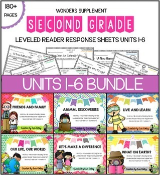 2nd Grade Leveled Reader Response Sheets Units 1-6: BUNDLE