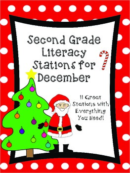 Second Grade Literacy Stations for December with Bonus Cal