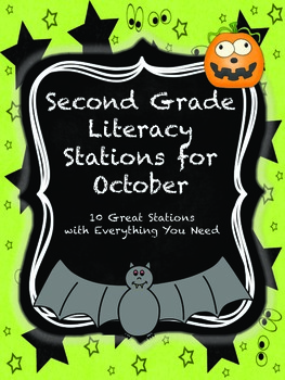 Second Grade Literacy Stations for October with BONUS Octo