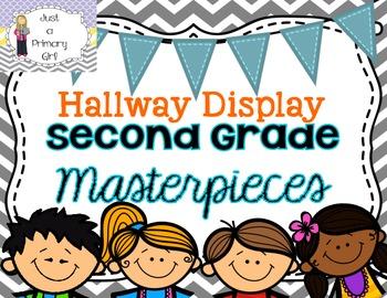Second Grade Masterpieces Hallway Display poster in Chevro