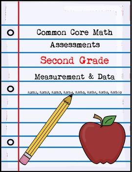 Second Grade Math Assessments ~ Common Core ~ Measurement & Data