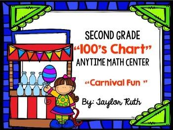 Second Grade Math Center: 100's Chart Math Activity (Carni