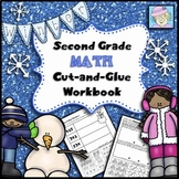 Second Grade Math Common Core Cut-and-Glue Workbook:  Wint