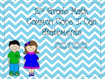 Second Grade Math Common Core I Can Statements