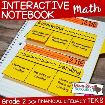Second Grade Math Interactive Notebook: Personal Financial